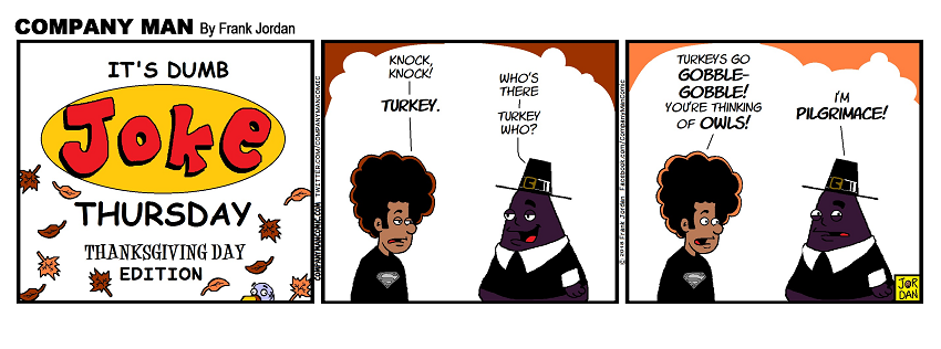 It's #DumbJokeThursday! #Thanksgiving Edition. 11/22/18